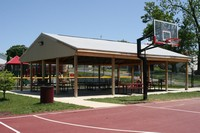 Lance Slusher Park Basketball court